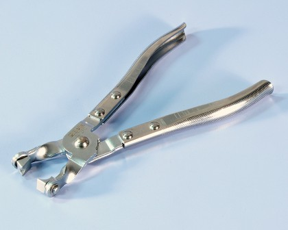 PLIERS FOR LOCKING IRON CLAMP