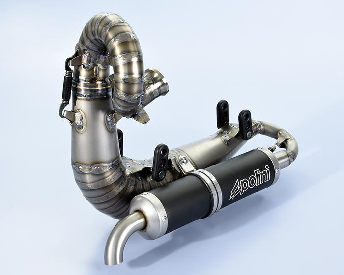 Titanium Polini muffler - marmitta Polini in titanio - Pot Polini en titane - silenciador Polini de titanio